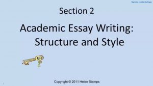 academic writing essentials academic skills advice workbook academic essay writing structure and style screenshot