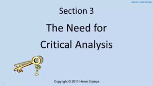 Worrkbook The Need for Critical Analysis Screenshot